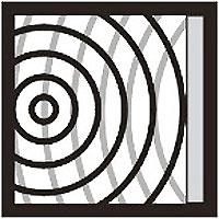 Symbolbild mit Schallquelle, Reflektor und Reflexionsschall.